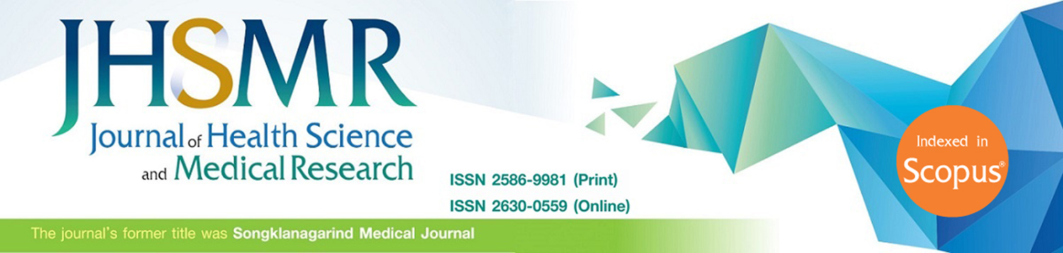 Official Journal Health Science of Prince of Songkla University